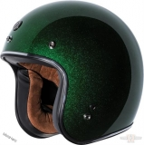 Retro přilba TORC T-50 Limecycle green mega flake